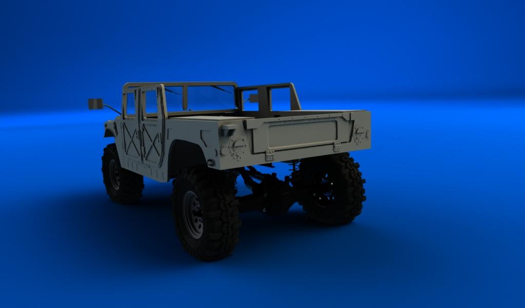 CONCEPTION 3D et IMPRESSION 3D (machine PRO) - Page 3 Hummer-militaire-sur-chassis-scx10.2