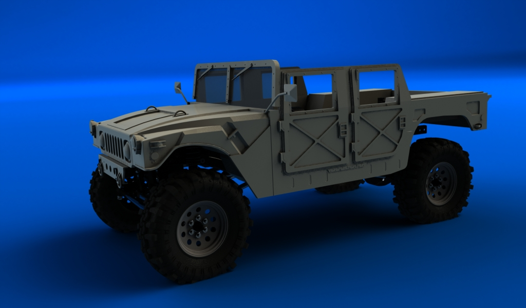 CONCEPTION 3D et IMPRESSION 3D (machine PRO) - Page 3 Hummer-militaire-sur-chassis-scx10