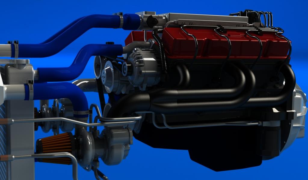 v8 turbo compressé